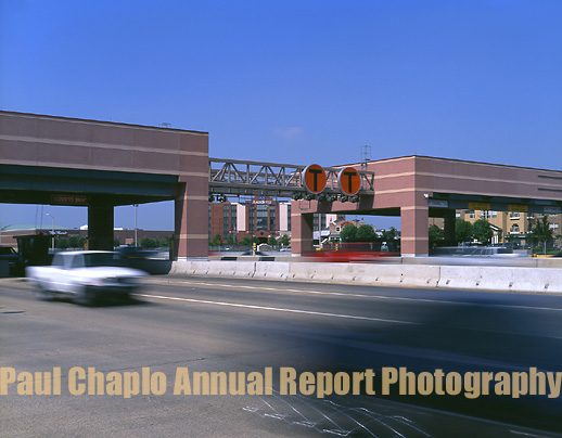 Toll way road booth photography Dallas TX masonry Airport Runway Airline Transportation Roadway Bridge Photography Dallas Texas Photographer TX Digital Aerial Insfrastructure Transportation Toll Road Booth Dallas
