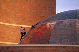 EXTERIOR Tarleton University Science Facility Planetarium Dome Construction Photograph (c) 2001 Paul Chaplo, Texas -- College Facility Photography, Construction also serving Kuala Lumpur, Malaysia