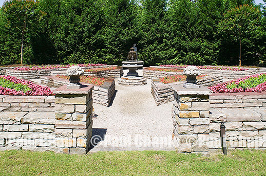 formal STONE garden landscape architecture digital photographers Dallas, TX Texas Architectural Photography garden design