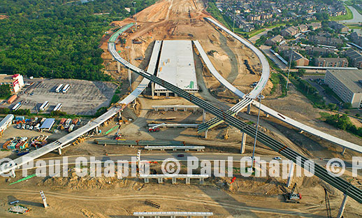 Aerial Photography Dallas TX Photographer Construction Road Bridge Digital